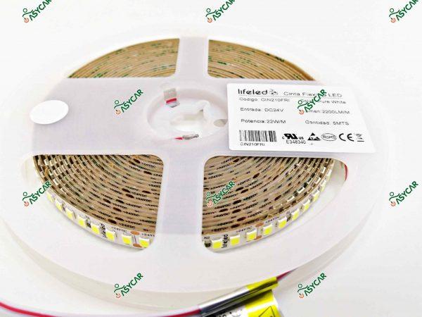 CINTA FLEXIBLE 2835 210 LED/M 24V FRIO